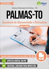 Assistente de Almoxarifado e Patrimônio - Câmara de Palmas - TO