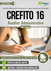 Auxiliar Administrativo - CREFITO 16ª Região