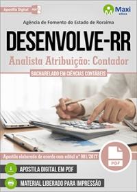 Analista Atribuição: Contador - DESENVOLVE-RR