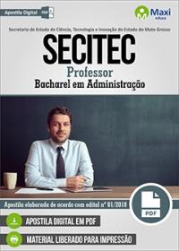 Professor - Bacharel em Administração - SECITEC - MT