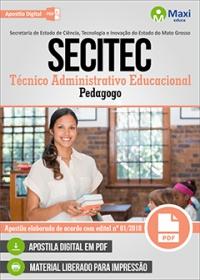 Técnico Administrativo Educacional - Pedagogo - SECITEC - MT