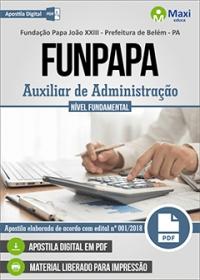Auxiliar de Administração - FUNPAPA