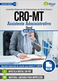Assistente Administrativo - Geral - CRO-MT