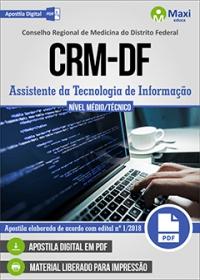 Assistente da Tecnologia de Informação - CRM-DF