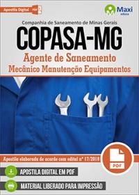 Agente de Saneamento - Mecânico Manutenção Equipamentos - COPASA-MG