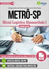 Oficial Logística Almoxarifado I - METRÔ - SP