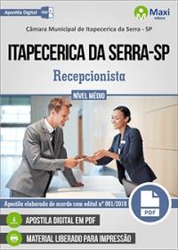 Recepcionista - Câmara de Itapecerica da Serra - SP