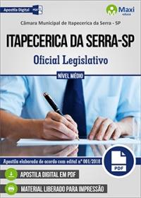 Oficial Legislativo - Câmara de Itapecerica da Serra - SP