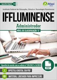 Administrador - Nível de Classificação E - IFFluminense