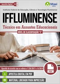Técnico em Assuntos Educacionais - Nível de Classificação E - IFFluminense