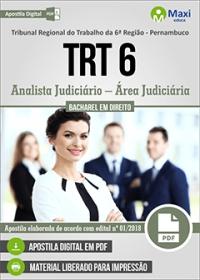 Analista Judiciário - Área Judiciária - TRT 6ª Região - Pernambuco