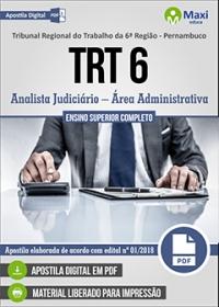 Analista Judiciário - Área Administrativa - TRT 6ª Região - Pernambuco