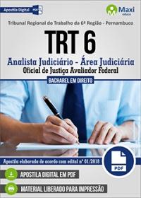 Analista Judiciário - Oficial de Justiça - TRT 6ª Região - Pernambuco