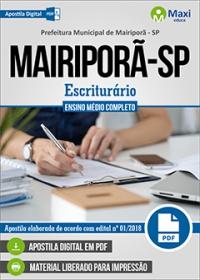 Escriturário - Prefeitura de Mairiporã - SP