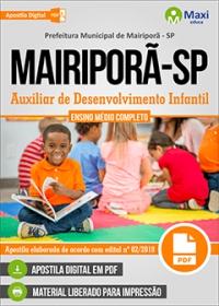 Auxiliar de Desenvolvimento Infantil - Prefeitura de Mairiporã - SP