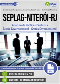 Analista de Políticas Públicas - Gestão Governamental - SEPLAG - Niterói - RJ