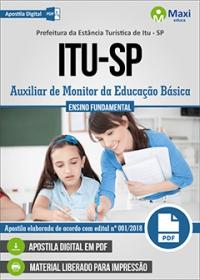 Auxiliar de Monitor da Educação Básica - Prefeitura de Itu - SP