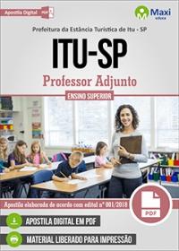 Professor Adjunto - Prefeitura de Itu - SP