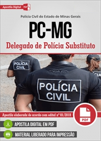 Delegado de Polícia Substituto - Polícia Civil - MG