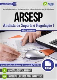 Analista de Suporte à Regulação I - ARSESP