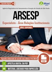 Especialista - Área Relações Institucionais - ARSESP