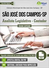 Analista Legislativo - Contador - Câmara de São José dos Campos - SP