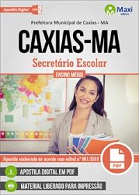 Secretário Escolar - Prefeitura de Caxias - MA