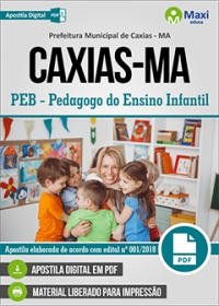 PEB - Pedagogo do Ensino Infantil - Prefeitura de Caxias - MA