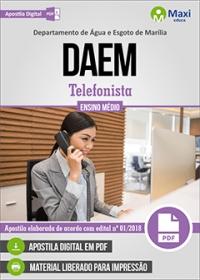 Telefonista - DAEM - Marília - SP