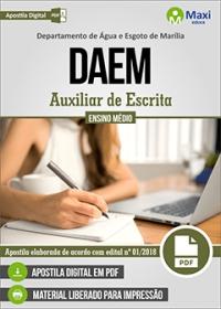 Auxiliar de Escrita - DAEM - Marília - SP
