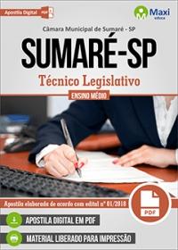 Técnico Legislativo - Câmara de Sumaré - SP