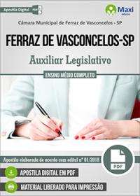 Auxiliar Legislativo - Câmara de Ferraz de Vasconcelos - SP