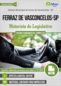 Motorista do Legislativo - Câmara de Ferraz de Vasconcelos - SP