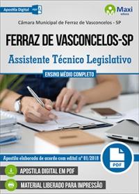 Assistente Técnico Legislativo - Câmara de Ferraz de Vasconcelos - SP