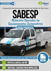 Motorista - SABESP