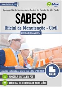 Oficial de Manutenção (Civil) - SABESP