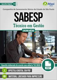 Técnico em Gestão - SABESP