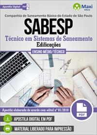 Técnico em Sistemas de Saneamento (Edificações) - SABESP