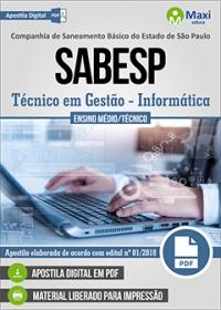 Técnico em Gestão (Informática) - SABESP