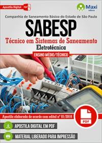 Técnico em Sistemas de Saneamento (Eletrotécnica) - SABESP