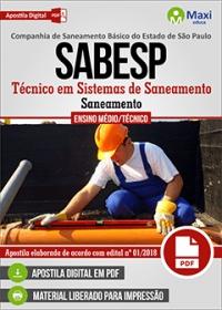 Técnico em Sistemas de Saneamento (Saneamento) - SABESP
