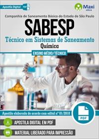 Técnico em Sistemas de Saneamento (Química) - SABESP