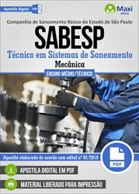 Técnico em Sistemas de Saneamento (Mecânica) - SABESP