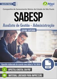 Analista de Gestão (Administração) - SABESP