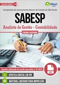 Analista de Gestão (Contabilidade) - SABESP