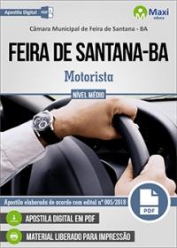Motorista - Câmara de Feira de Santana - BA
