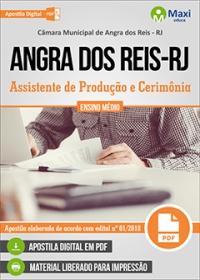 Assistente de Produção e Cerimônia - Câmara de Angra dos Reis - RJ