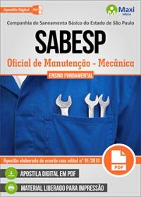Oficial de Manutenção (Mecânica) - SABESP