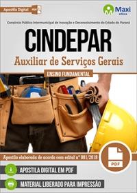 Auxiliar de Serviços Gerais - CINDEPAR