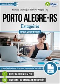 Estagiário de Ensino Médio - Câmara de Porto Alegre - RS